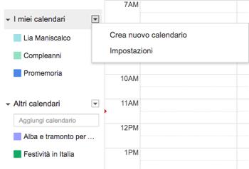 Calendario Alba Tramonto 2020.Condividere Calendario Gmail